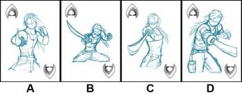 Clashing Blades! spades sketches