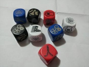 Superhero Smackdown playtest dice