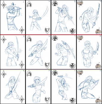 New Number Card Sketches