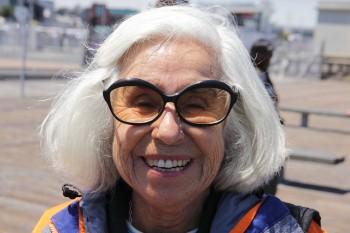 Smiling Grandma Fab Sunglasses White Hair
